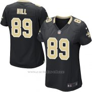 Camiseta New Orleans Saints Hill Negro Nike Game NFL Mujer