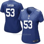 Camiseta New York Giants Carson Azul Nike Game NFL Mujer