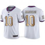 Camiseta New York Giants Manning Blanco Nike Gold Legend NFL Hombre