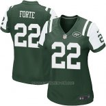 Camiseta New York Jets Forte Verde Nike Game NFL Mujer