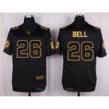Camiseta Pittsburgh Steelers Bell Negro Nike Elite Pro Line Gold NFL Hombre