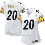 Camiseta Pittsburgh Steelers Bleier Blanco Nike Game NFL Mujer