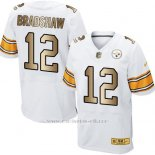 Camiseta Pittsburgh Steelers Bradshaw Blanco Nike Gold Elite NFL Hombre