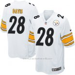 Camiseta Pittsburgh Steelers Davis Blanco Nike Game NFL Nino
