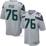 Camiseta Seattle Seahawks Ifedi Gris Nike Game NFL Nino