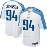 Camiseta Tennessee Titans Johnson Blanco Nike Game NFL Hombre