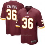 Camiseta Washington Redskins Cravens Rojo Nike Game NFL Marron Hombre