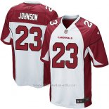 Camiseta Arizona Cardinals Johnson Blanco Rojo Nike Game NFL Nino2