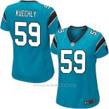 Camiseta Carolina Panthers Kuechly Lago Azul Nike Game NFL Mujer