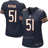 Camiseta Chicago Bears Butkus Blanco Negro Nike Game NFL Mujer