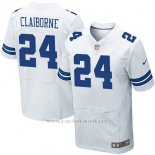 Camiseta Dallas Cowboys Claiborne Blanco Nike Elite NFL Hombre
