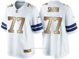 Camiseta Dallas Cowboys Smith Blanco Nike Gold Game NFL Hombre