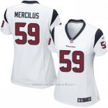 Camiseta Houston Texans Mercilus Blanco Nike Game NFL Mujer