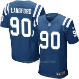 Camiseta Indianapolis Colts Langford Azul Nike Elite NFL Hombre