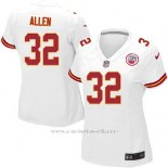 Camiseta Kansas City Chiefs Allen Blanco Nike Game NFL Mujer