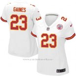 Camiseta Kansas City Chiefs Gaines Blanco Nike Game NFL Mujer