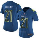 Camiseta NFC Collins Azul 2017 Pro Bowl NFL Mujer