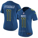 Camiseta NFC Fitzgerald Azul 2017 Pro Bowl NFL Mujer