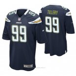 Camiseta NFL Game Hombre San Diego Chargers Jerry Tillery Azul2