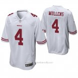 Camiseta NFL Game Hombre San Francisco 49ers Nick Mullens Blanco
