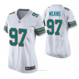 Camiseta NFL Game Mujer Miami Dolphins Christian Wilkins Throwback Blanco