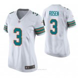 Camiseta NFL Game Mujer Miami Dolphins Josh Rosen Throwback Blanco