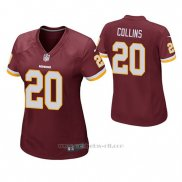 Camiseta NFL Game Mujer Washington Redskins Landon Collins Rojo
