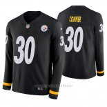 Camiseta NFL Hombre Pittsburgh Steelers James Conner Negro Therma Manga Larga