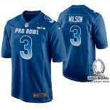 Camiseta NFL Hombre Seattle Seahawks Russell Wilson NFC 2019 Pro Bowl Azul 0a