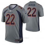 Camiseta NFL Legend Denver Broncos Kareem Jackson Inverted Gris