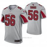 Camiseta NFL Legend Hombre Arizona Cardinals 56 Terrell Suggs Inverted Gris