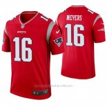 Camiseta NFL Legend Hombre New England Patriots 16 Jakobi Meyers Inverted Rojo