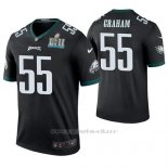 Camiseta NFL Legend Hombre Philadelphia Eagles Brandon Graham Negro Super Bowl Lii Champions Color Rush