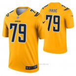 Camiseta NFL Legend Los Angeles Chargers Trey Pipkins Inverted Oro