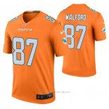 Camiseta NFL Legend Miami Dolphins Clive Walford Color Rush Naranja