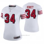 Camiseta NFL Legend Mujer San Francisco 49ers Jason Verrett Blanco Color Rush