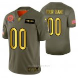 Camiseta NFL Limited Chicago Bears Personalizada 2019 Salute To Service Verde