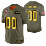 Camiseta NFL Limited Cleveland Browns Personalizada 2019 Salute To Service Verde
