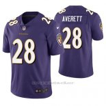 Camiseta NFL Limited Hombre Baltimore Ravens Anthony Averett Violeta Vapor Untouchable