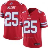Camiseta NFL Limited Hombre Buffalo Bills 25 Lesean Mccoy Rojo Stitched Rush