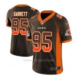 Camiseta NFL Limited Hombre Cleveland Browns Myles Garrett Marron 2018 Drift Fashion Color Rush