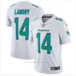 Camiseta NFL Limited Hombre Miami Dolphins 14 Jarvis Landry Blanco