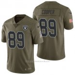 Camiseta NFL Limited Hombre Oakland Raiders 89 Amari Cooper 2017 Salute To Service Verde