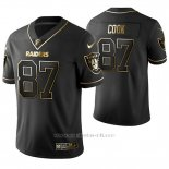 Camiseta NFL Limited Hombre Oakland Raiders Jared Cook Golden Edition Negro