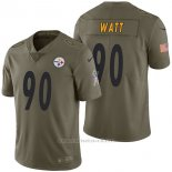 Camiseta NFL Limited Hombre Pittsburgh Steelers 90 T.j. Watt 2017 Salute To Service Verde