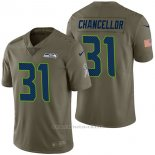 Camiseta NFL Limited Hombre Seattle Seahawks 31 Kam Chancellor 2017 Salute To Service Verde