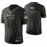 Camiseta NFL Limited Hombre Seattle Seahawks Fan Golden Edition Negro