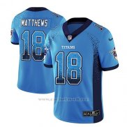 Camiseta NFL Limited Hombre Tennessee Titans Rishard Matthews Light Azul 2018 Drift Fashion Color Rush