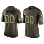 Camiseta NFL Limited New York Giants Personalizada Salute To Service Verde2