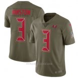 Camiseta NFL Limited Nino Tampa Bay Buccaneers 3 Winston 2017 Salute To Service Verde